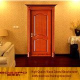 Porte d'entrée d'acajou en bois solide pour l'appartement (GSP2-044)