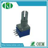 Potentiomètre rotatif stéréo 9 mm avec 6 broches Wh9011A-2