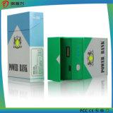 Cargador móvil portable de la batería de la potencia de la dimensión de una variable de la caja de cigarrillo con Ce/RoHS