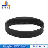 Wristband elegante del silicón flexible RFID de la pantalla de seda para las patrullas del agua