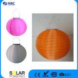 Lanterna solare del globo di cm del diametro 25 con l'indicatore luminoso del LED per la decorazione esterna