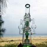 연기가 나는 유리제 수관 암살자 선디 더미 한덩어리는 고품질 Recycler 담배 키 큰 색깔 사발 유리제 기술 재떨이 유리 관 무모한 비커 버플러 Handcra를 준비한다