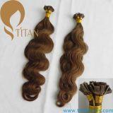Extensão lisa do cabelo da ponta do cabelo brasileiro médio do Virgin de Brown (TT402)