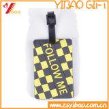 주문을 받아서 만들어진 로고 선전용 Silicone/PVC 수화물 꼬리표
