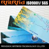 13.56MHz boleto de la etiqueta del papel brillante RFID para el vehículo