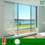 Portes coulissantes en aluminium d'interruption Non-Thermal avec la glace Tempered