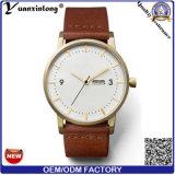 Relógios luxuosos relativos à promoção de quartzo da moda Charming feita sob encomenda nova do relógio do couro dos homens do logotipo OEM/ODM da alta qualidade da chegada Yxl-093