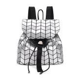 Type carré argenté sac de sac à dos de cordon d'unité centrale (A0110)