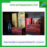 Изготовленный на заказ причудливый коробка подарка благосклонности бутылки вина упаковывая