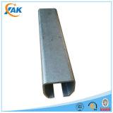 L'acier unistrut de la Manche de C dimensionne le métal encadrant avec des garnitures pour l'exportation