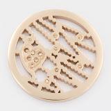 Iprg überzog Münzen mit Pflanzenelemente befestigten Locket-hängenden Form-Schmucksachen