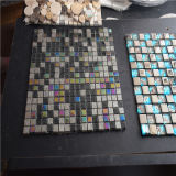 多彩な正方形のステンレス製のモザイク、モザイク・ガラス、ガラスモザイク・タイル