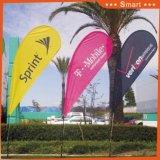 3PCS Custom Teardrop Feather Flag para Publicidade ao ar livre ou para Eventos ou Sandbeach Modelo: Qz-010