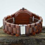 Vigilanza del legno personalizzata del sandalo rosso del catenaccio dell'acciaio inossidabile di marchio