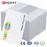 IDENTIFICATION RF de PVC blanc MIFARE sec plus les cartes imprimables d'IDENTIFICATION RF de carte de X 2K