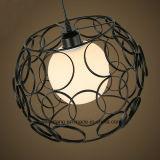 Rundes Eisen-moderner einfacher Leuchter-hängende Lampe für Gaststätte