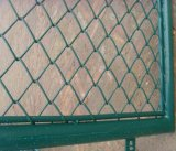 Cerca revestida de la conexión de cadena del PVC de la barrera de los campos de deportes