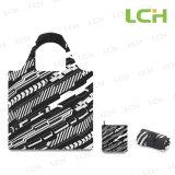 I sacchetti pieghevoli riciclati di promozione di acquisto della drogheria hanno progettato da Loqi Inc
