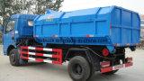 Dongfeng 6ton Detechable 콘테이너 쓰레기 폐기물처분 트럭