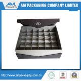 Boîte de empaquetage à chocolat carré de boîte-cadeau avec le cadre en plastique de bonbon à garniture intérieure d'ampoule