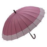 Зонтик Sun симпатичного цветения вишни 24k прямой для повелительницы