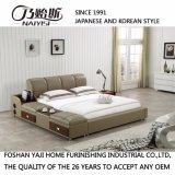 Белая кровать кожи ткани цвета для пользы спальни (FB8048B)