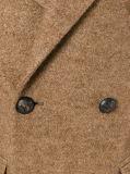 Cappotto su misura del tweed di Breasted del cammello doppio per gli uomini