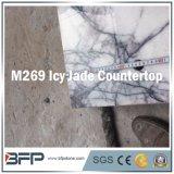 Countertop ледистого нефрита M289 пурпуровый мраморный для стенда работник службы рисепшн ванной комнаты