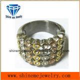 De Vinger van de overeenkomst belt de Goud Geplateerde Juwelen van het Huwelijk van het Kristal