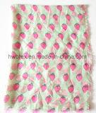 Madame mignonne Scarf (HWBPS006) de voile de polyester d'impression de cerise