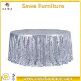 Tissu de table plissé à la mode à la vente chaude