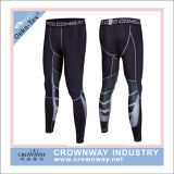 As cuecas da compressão dos homens ostentam calças justas com impressão do Sublimation
