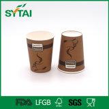 Taza de papel del café disponible revestido de un sólo recinto del PE de muchas tallas