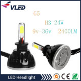2X 40W 4000lm G5 Auto Car LED Headlight 9005/Hb3/H10 6000k High Power Conversion 360 Degree COB LEDs