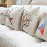 Descansos de Throw roxos impressos linho do algodão para a decoração dos sofás
