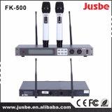 Fk800二重チャネルUHFデジタルの無線マイクロフォン