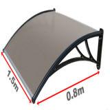 Tente en plastique de guichet de polycarbonate imperméable à l'eau d'écran de porte