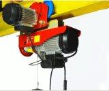 Gru elettrica della strumentazione di sollevamento con la fune metallica