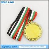 Medaglie in bianco su ordinazione della moneta del ricordo dell'oro del bordo della cavità della medaglia del metallo