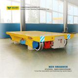 Carrinho de transferência de transporte de trilhos elétricos com bobina de cabo de uso em fábrica