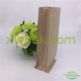 Sacos de café inferiores do papel de embalagem Da caixa com o laço da válvula e do estanho