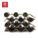 2016 Spitzenverkaufs-hölzerne Wein-Zahnstangen-Silber-Wein-Zahnstange