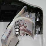 Nota de banco Fdj-126 que conta a máquina para o dinheiro velho e sujo