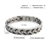 Wristband del germanio di prezzi di fabbrica di energia dell'acciaio inossidabile 316L