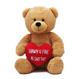 O urso grande do luxuoso do urso da peluche da amostra livre encheu o urso gigante do luxuoso grande do brinquedo do urso do tamanho