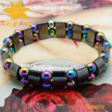 Bracelet magnétique de rosaire de saint de l'hématite Htb-114