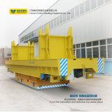 Plataforma eléctrica industrial de la transferencia del uso 10t para manejar los tubos de acero y los tubos