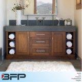 Шкафы тщеты ванной комнаты с двойным тазиком керамики для мебели ванной комнаты