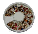 Искусствоо ногтя, красотка ногтя, вспомогательное оборудование ногтя, Rhinestone искусствоа ногтя, Золот-Выровнянные квадратные Rhinestones