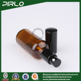 bernsteinfarbige Glasflasche des spray-50ml mit schwarzer Lotion-Pumpe